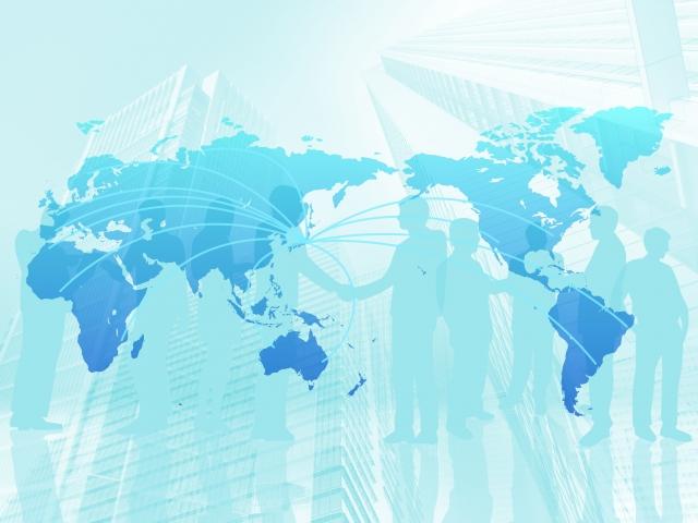 工業製品の輸出入販売のイメージ